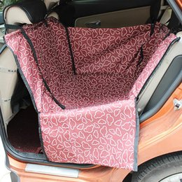 Wholesale Pet Seat Protector - High Quality mat waterproof Foldable Waterproof Carriers Rear Back Pet Dog Car Seat Cover Mats Hammock Protector With Safety