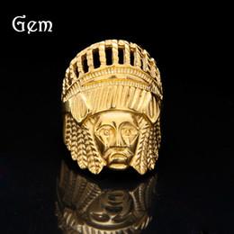Oro indio 18k online-18k oro Retro Indios anillo Hip Hop índice dedo anillo hombres y mujeres exagerado Aleación anillos # hop