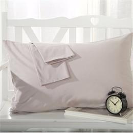 travesseiros decorativos cinza Desconto Cinza Fronha Rectangulo Cor Sólida Roupa de Cama 100% Algodão Macio Decorativo Travesseiro Cobre 48 cm x 74 cm 2 pcs Quente
