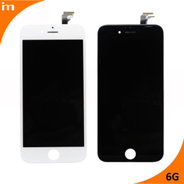 Wholesale Hot Touch Digitizer - 100% Test Hot Sell High Quality For iPhone 6 LCD Display Touch Screen Digitizer Assembly Black & White color for iphone 6 lcd screen