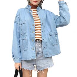d037a79427ec 2018 Frühling neue Jeansjacke Frauen Jacke koreanische Cowgirl Kleidung für  Frauen Jeans Denim Mantel locker Fit Casual Style Top