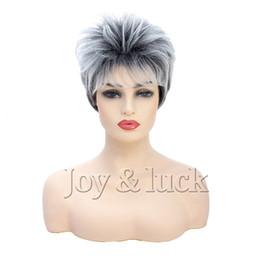 Canada Nouvelle Arrivée Courte Coiffure Synthétique Femmes Perruque Pixie Cut Élégant Droite Cosplay Party Perruques De Cheveux cheap stylish wigs for women Offre