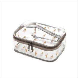 e0cc77d0d89d PVC Transparent Flamingo Cosmetic Bags Women s travel Waterproof Clear Wash  Organizer Pouch Beauty Makeup Case Accessories Supplies