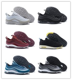 Wholesale Drop Shipping Bullet - Drop Shipping 97 OG Bullet Running Shoes Men Casual Air Cushion Undefeated Boost Racer Outdoor Athletic Jogging Hiking Sneakers Sports Shoes