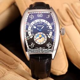 2019 смотреть день ночь Новый CINTRÉE CURVEX День Ночь 7880 ч JN стальной корпус черный циферблат автоматический фазы Луны мужские часы кожаные часы высокое качество A92c3 дешево смотреть день ночь