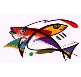 Pittura a olio di pesce koi online-Golden and Orange Koi Fish Swimming Underwatere di Alfred Gockel Dipinto a mano HD Stampa famosa pittura a olio astratta arte su tela. L131