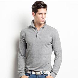 Homens tamanho king vestuário on-line-Marca de Moda de malha Homens Roupas Cor Sólida Camisa de Manga Longa Homem Lazer Algodão T-Shirt Casual King Size T Camisas casuais