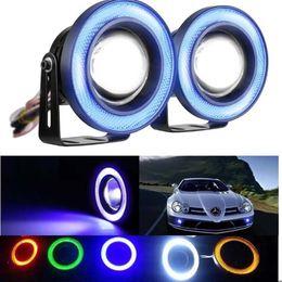 lampadina a commutazione colore Sconti 2PCS 30W 12V COB LED Car Fog Light Lampada 2.5 / 3 / 3.5 Inch 1200LM Auto Car Angel Eyes Light 64/76/89 mm Lampadine per fari