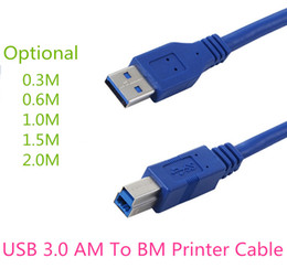 Wholesale Transfer Printers - Fast Free Shipping High Speed Data Extension Cable USB 3.0 AM To BM Printer Cable Data Transfer Sync Cable for Printer