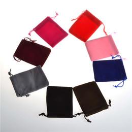Borse da regalo in lino online-Flanella 7 * 9CM Mini sacchetto di iuta Borsa di tela di lino piccole borse con coulisse Collana anello Sacchetti di gioielli Bomboniere Confezioni regalo