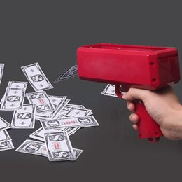 Wholesale plastic cannons - Cash Cannon Money Gun Make It Rain Money Gun Red for Novelty Party Props Money Gun Decompression Toys