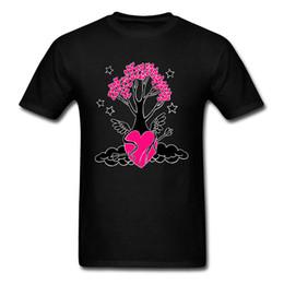 Jersey corto de holanda online-Holland camiseta de manga corta jersey camiseta hombres amor árbol hombres tops normales camisetas mejor regalo de cumpleaños camiseta más tamaño homme