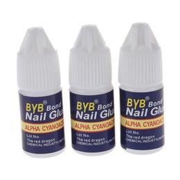 lattice del chiodo Sconti 3g Veloce senza acidi Latex Nail art punte di colla glitter UV acrilico Decorazioni per strass colla per unghie false tip manicure tool