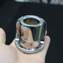 Wholesale Stainless Steel Cock Weights - Heavy New Stainless Steel Scrotum Weight Pendant, Penis Restraint Locking Ring Cock Ring Cock Cage Chastity Belt Chastity Cage,Sex Toy,B68