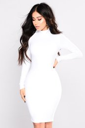 ladies long jersey Promo Codes - WOMENS Dress LADIES GIRLS LONG SLEEVE MIDI DRESS STRETCH BODYCON PLAIN JERSEY MAXI Dresses