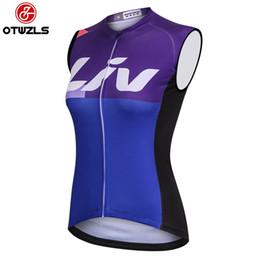 Wholesale road bike clothing women - 2018 Cycling Jersey Vest Sleeveless Women Cycling Jersey MTB Road Bike Bicycle Clothing Pro Team Maillot Ropa Ciclismo Bike Shirts