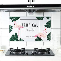 Wholesale Tile Decals For Kitchen - Decor Home Kitchen Room PET Waterproof Anti Oil Wall Sticker Mural Art Foil Decal Wallpaper Prevent Fumes Heat Resistance 75*45cm