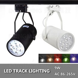 Wholesale Track Light 9w - LED track light 9W 85-265v white black boday energy saving rail light decorate lamp store high quality high lumens lamp