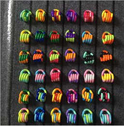 Wholesale puzzle rings - fiddle Fidget Anti Stress Therapy Autism Sensory Toy Puzzle Educational Toys Gift For Kid Twisted Ring Finger Dexterity Training Toy KKA5011