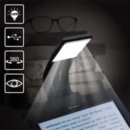 Wholesale Dimmable Led Desk Lamp - Clip Reading Light Tough Brightness LED Book Light Rechargeable Reading Lamp With 4 Level Dimmable Desk & Bed Lamp for Book eBook Reading