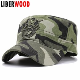 """Wholesale United Forces - United States US Army Special Forces flat top cap hats Arrow """"De Oppresso Liber"""" Baseball Caps Hat To Liberate the Oppressed"""