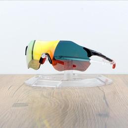 Gafas deportivas transparentes online-Gafas de sol EV Ciclismo O Marca Hombre Moda Gafas de sol polarizadas TR90 Gafas deportivas para correr al aire libre 9313 Colorido, polarizado, len transparente