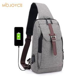Nylon Men Chest Pack USB Charging Single Shoulder Strap Back Bag Crossbody  Bags for Lady Sling Shoulder Bag Back Pack Travel a50412a5e1ad7