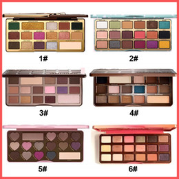 Wholesale wholesale faced eye shadow - High quality Faced Makeup Sweet peach Eyeshadow Clover Palette bons Semi-sweet Chocolate Gold 16 Color Shimmer Matte Eye shadow Palette