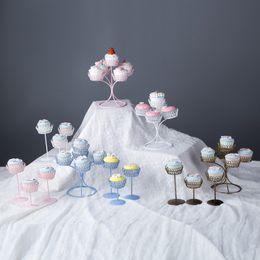 4pcs Set Simple Dessert Table Cupcake Rack Birthday Cake Tray Wedding Arrangements Iron
