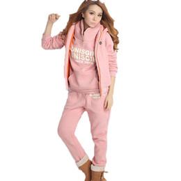 76f63cc0453 Women Two Piece Set Outfits Hoodies+Vest+Pants 3 Plus Size 6XL Tracksuit  Conjunto Feminino Ropa Mujer Autumn Clothes 2 Piece Set