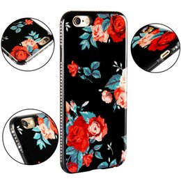 Wholesale Diamond Flower Phone Cases - Flower Diamond Phone Case IMD TPU Cover for iPhone 8 7 6s 6 Plus Samsung Galaxy S8 Plus Opp Bag