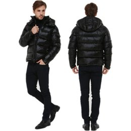 Wholesale men down ski jacket - 018 Fashion brands Warm Ski winter jacket Men's Designer Hooded Coat Brand Jackets For Men Anorak Padded Parkas High Quality Down jacket