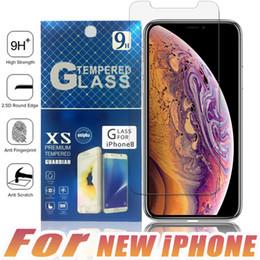 Argentina Para NUEVO iPhone X XR XS MAX Protector de pantalla de vidrio templado Anti-huella digital para Samsung S8 S7 S6 Edge Plus con paquete de papel Suministro