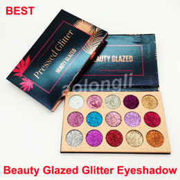 Wholesale Cosmetic Stocks - in stock Beauty Glazed Eye shadow Palette 15 Colors Glitter Eyeshadow Palette Beauty Makeup Ultra Shimmer Face Cosmetics DHL free shipping