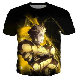 Neueste Mode Anime Schicksal Bleiben Nacht Gilgamesch T-Shirt Lustige 3D Gedruckt Frauen / Männer Kurzarm Unisex T-shirt Casual Tops K246 von Fabrikanten