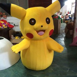 Wholesale Children S Fancy Dress - 2018 High quality hot Pikachu Mascot Costume Party Cute party Fancy Dress Adult Children Size Factory Direct Sale Fast Ship