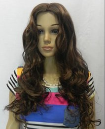 Wholesale Wig Yellow Long - free shipping Womens Long Straight color Wig Heat Resistant AAA light black yellow colour curls Straight hair hair Wig No bangs+Wig Cap