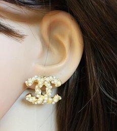 Wholesale ear studs backs - New Luxury Brand Designer Stud Earrings Letters Ear Stud Earring Jewelry Accessories for Women Wedding Gift Free Shipping 925
