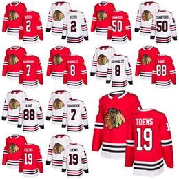 Wholesale Duncan Keith - Men Chicago Blackhawks 19 Jonathan Toews 88 Patrick Kane 2 Duncan Keith 8 Nick Schmaltz 7 Brent Seabrook 50 Corey Crawford Hockey Jersey