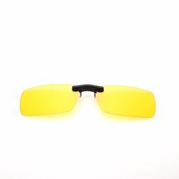 Argentina Pillot Visión Nocturna Mujeres Hombres Clip En Gafas de Sol Diseñador de la Marca Gafas de Sol Polarizadas Gafas Amarillas de Conducir Gafas De Sol cheap yellow polarized clip sunglasses Suministro