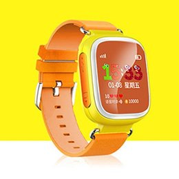 Wholesale kid gps tracking watch - Q80 LBS Smart Watch Baby Watch with Touch Screen SOS Call Location Kid Safe Phone Fitness Sleep Pedometer Tracking Screen Smartwatch