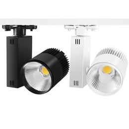 luces de exhibición Rebajas Luz de riel LED 20W 30W Rail Spot COB Rail Rails Tienda de zapatos Tienda Mall Lámpara Showroom Focos Iluminación para exposiciones