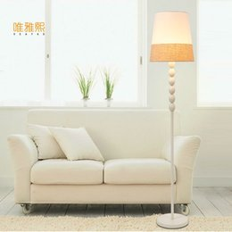Wholesale Brown Lampshade - blue and white shade floor lamp fabric lampshade lighting floor Black white ligts modern lighting bed room