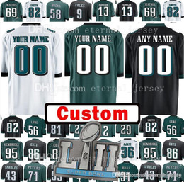 Wholesale footballs johnson - Custom Philadelphia 41 Ronald Darby 55 Brandon Graham Jersey Eagle 59 Joe Walker 62 Jason Kelce 65 Lane Johnson Jerseys