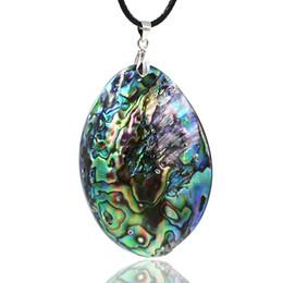 Nuovi gioielli della zelanda online-Collana di choker dichiarazione abalone naturale Kakee Nuova Zelanda per le donne pendenti di fascini regalo maxi gioielli di moda collare