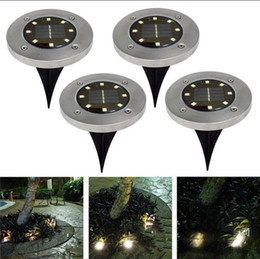 Wholesale Christmas Tree Decoration Lights - 8 LED Solar Power Buried Light Under Ground Lamp Outdoor Path Way Garden House Decoration OOA4250