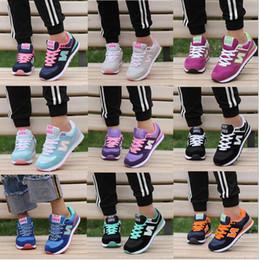 Wholesale Purple Joker - High quality new women men's South Korea Joker shoes letters breathable running shoes sneakers Casual Walking Hiking Shoes