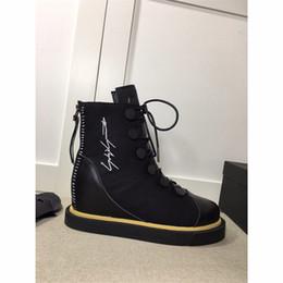 ae57168f5929e 8 Foto Compra Online Y stivali-Yohji Y3 Lace Up Boot Y-3 Pelle di montone