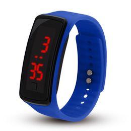 Argentina Moda deporte LED relojes Candy Jelly hombres mujeres goma de silicona pantalla táctil relojes digitales pulsera reloj de pulsera Suministro