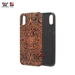 Wholesale Engrave Wood Cover - 10 totem engraving wood pc phone case for iPhone x 10, hybrid luxury winw brand back cover for Apple i Phone x 10